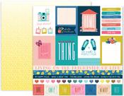 Pick Me Up Paper 1 - Pink Paislee - PRE ORDER