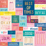 Pick Me Up Gold Foiled Vellum Sheet - Pink Paislee