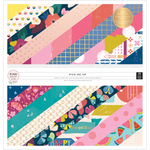 Pick Me Up 12 x 12 Foil Accented Paper Pad - Pink Paislee
