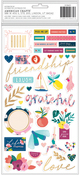 Chipboard Icon Thickers - Pick Me Up - Pink Paislee