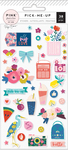 Pick Me Up Puffy Stickers - Pink Paislee