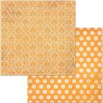 Orange Citrus Double Dot Damask Paper - Bo Bunny