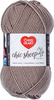 Suede - Red Heart Chic Sheep Yarn This natural wool fiber is wonderful to work with and it is machine washable. Appeals to the higher-end stitcher who enjoys working with natural fiber. Weight category: 4. Content: 100% wool. Putup: 3.5oz/100g, 186yd/170m. Gauge: 16sx28r = 4in/10cm on size US8/5mm knitting needles. Suggested crochet hook size: H-8/5mm. Dyelotted: we try but are not always able to match dyelots. Care: machine wash, dry flat, do not iron, do not bleach, dry clean using P solvents. Comes in a variety of colors. Each sold separately. Imported.