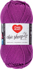 Vineyard - Red Heart Chic Sheep Yarn This natural wool fiber is wonderful to work with and it is machine washable. Appeals to the higher-end stitcher who enjoys working with natural fiber. Weight category: 4. Content: 100% wool. Putup: 3.5oz/100g, 186yd/170m. Gauge: 16sx28r = 4in/10cm on size US8/5mm knitting needles. Suggested crochet hook size: H-8/5mm. Dyelotted: we try but are not always able to match dyelots. Care: machine wash, dry flat, do not iron, do not bleach, dry clean using P solvents. Comes in a variety of colors. Each sold separately. Imported.