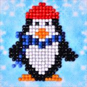 "Penguin Waddle - Diamond Dotz Diamond Embroidery Facet Art Kit 4.75""X4.75"""