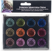 Antique Shades - Cosmic Shimmer Iridescent Watercolor Palette Set 6