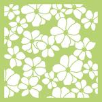"""Floral - Kaisercraft Designer Template 6""""X6"""""""