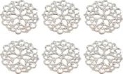 Petal Doily - Ultimate Crafts Bohemian Bouquet Metal Charms 6/Pkg