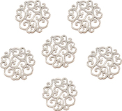 Scalloped Doily - Ultimate Crafts Bohemian Bouquet Metal Charms 5/Pkg