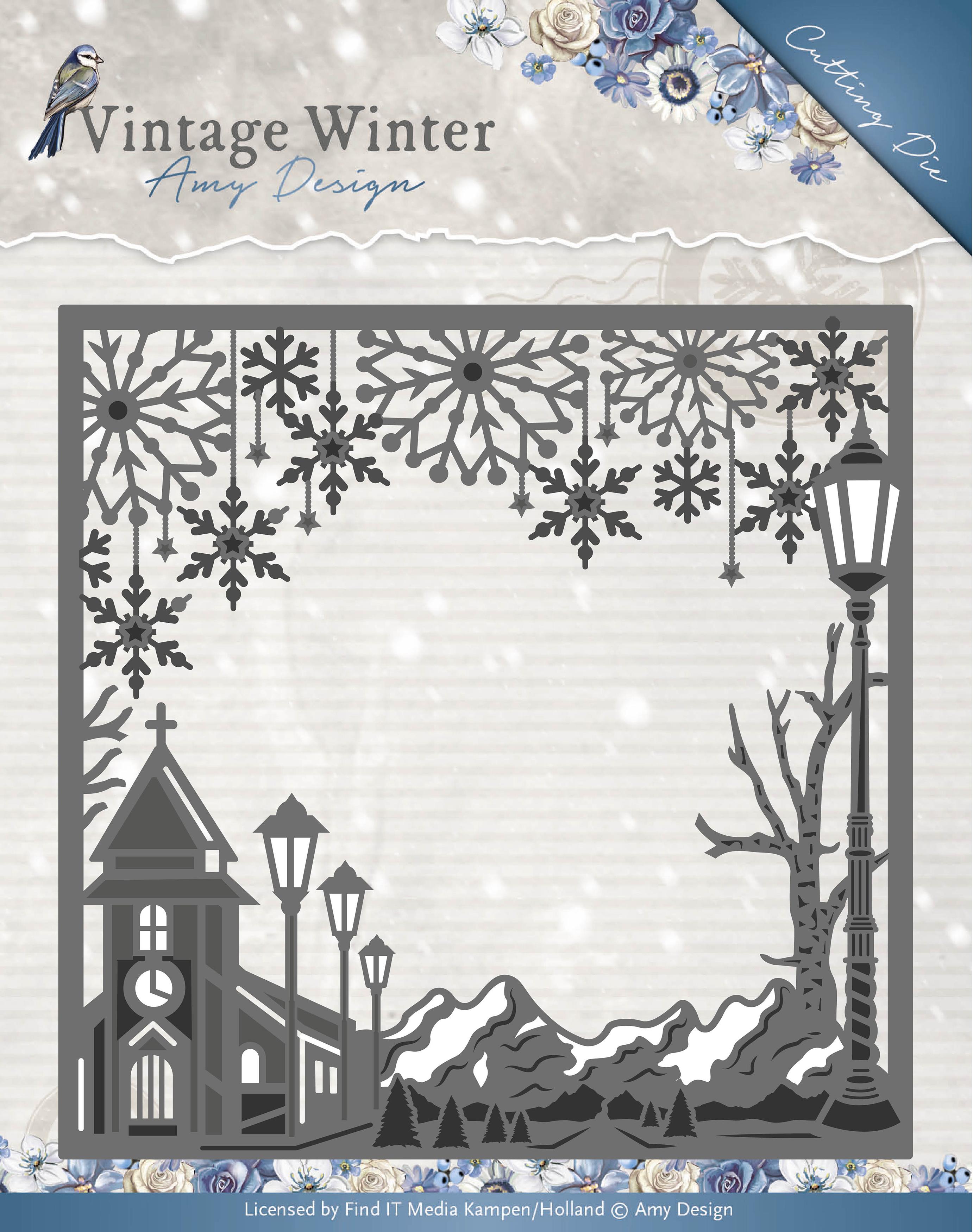 Square Village Frame - Find It Trading Amy Design Vintage Winter Die