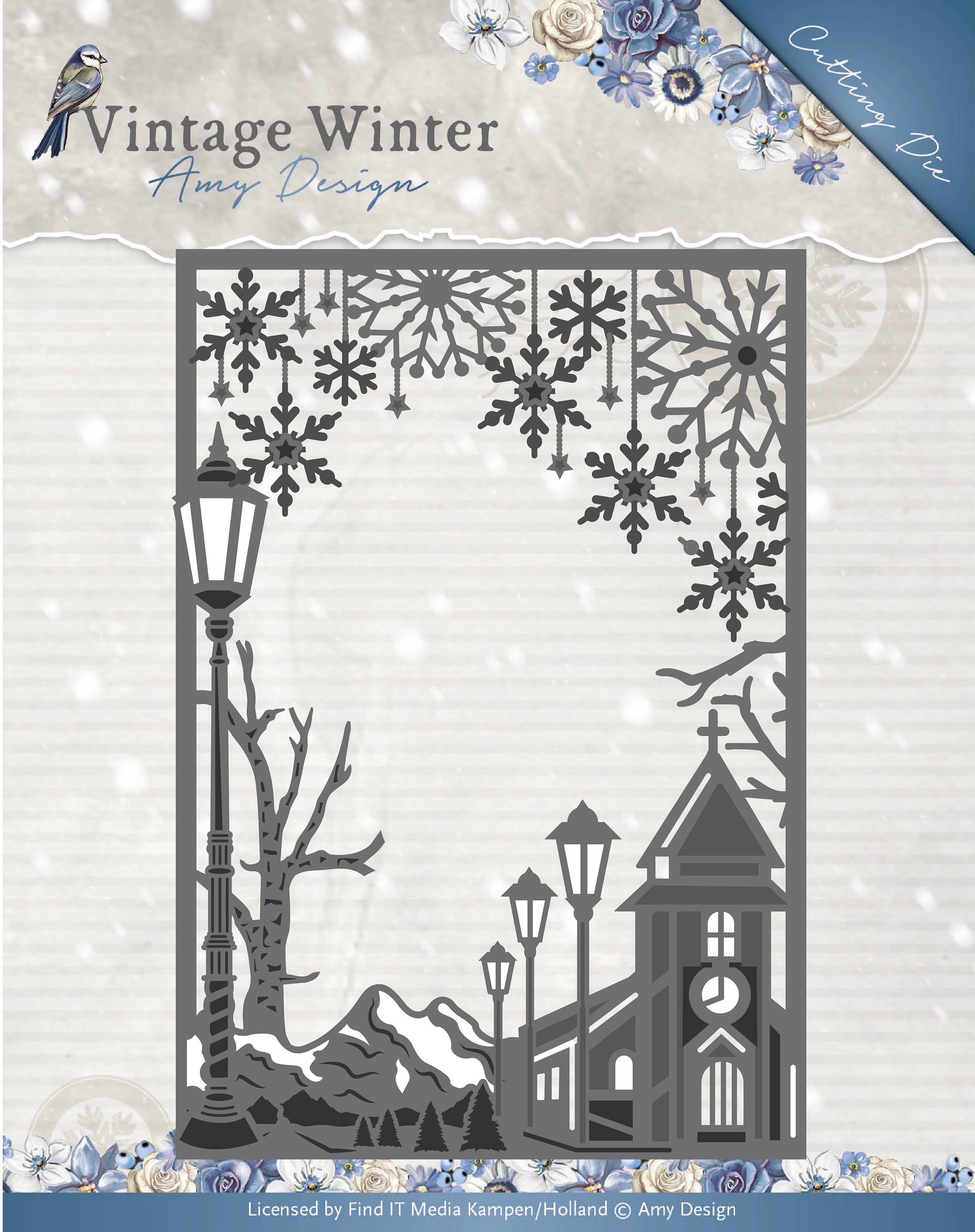 Straight Village Frame - Find It Trading Amy Design Vintage Winter Die