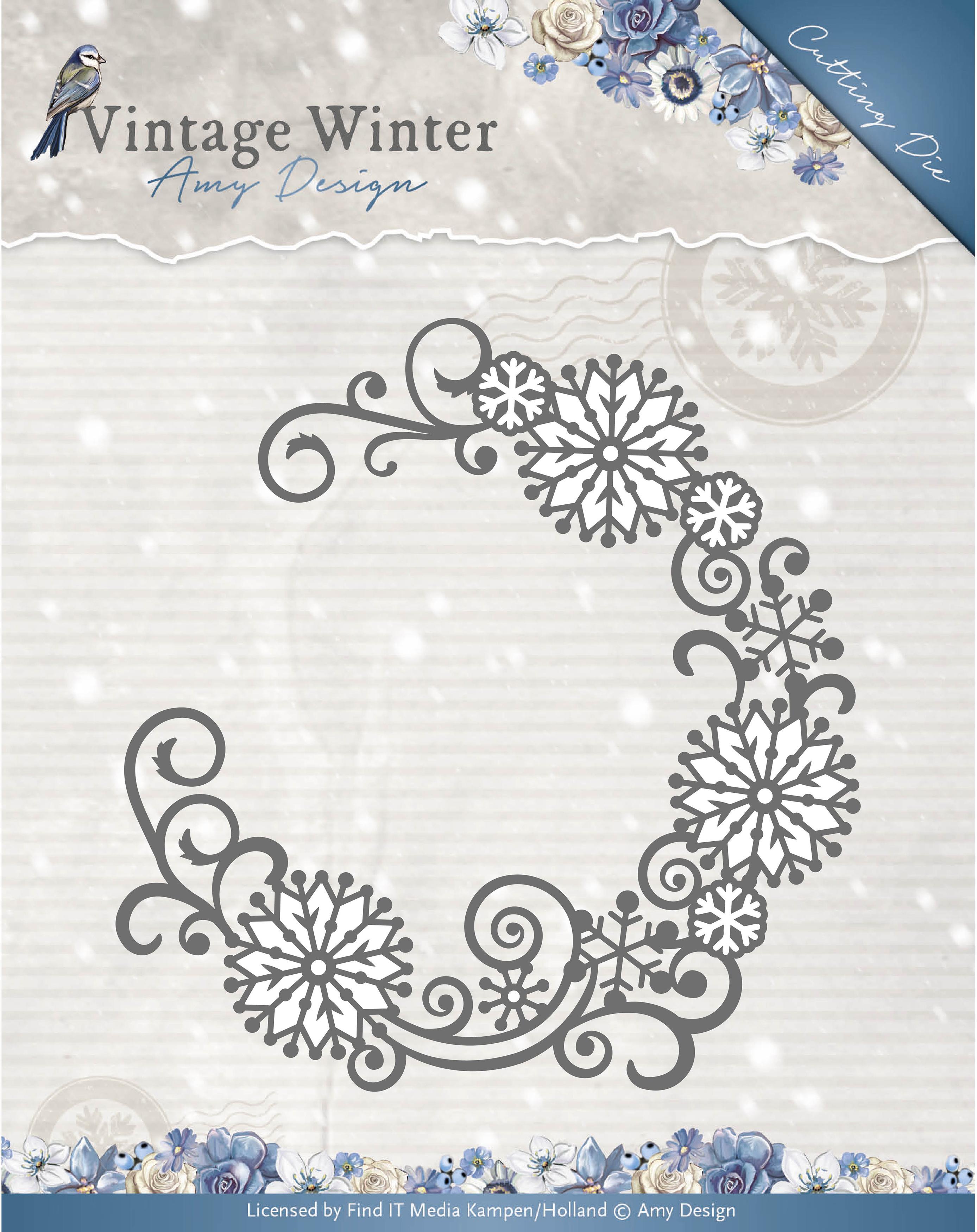 Snowflake Swirl Round - Find It Trading Amy Design Vintage Winter Die