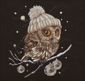 "Whoo...Whoo... It's Winter (16 Count) - Thea Gouverneur On Aida Counted Cross Stich Kit 12""X12"""