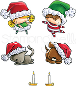 Santa Kids & Pets - Stamping Bella Cling Stamps