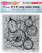 Clock Collage - Stampendous Cling Stamps