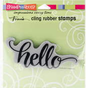 Big Brush Hello - Stampendous Cling Stamp