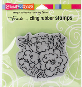 Blossom Trio - Stampendous Cling Stamp