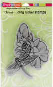 Dragonfly Lily - Stampendous Cling Stamp