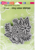 Mum Blossoms - Stampendous Cling Stamp
