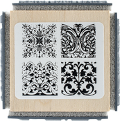 "Ornate Tiles Texture - Stampendous Cube Rubber Stamp 2.75""X2.75"""