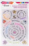 Circular Messages - Stampendous Perfectly Clear Stamps