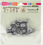 Teddy Friend - Stampendous House Mouse Cling Stamp