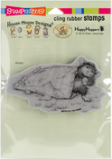Cheese Puffs - Stampendous House Mouse Cling Stamp