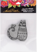 Cat & Feathered Friends - Stampendous Laurel Burch Cling Stamp