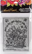 Flutterbye Cake - Stampendous Laurel Burch Cling Stamp
