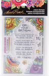 Birthday Corners - Stampendous Laurel Burch Clear Stamps