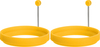 Yellow - Silicone Reversible Egg Rings 2pcs Make the perfect egg with these reversible double sized silicone egg rings. Also the perfect size for your bagel or other baked goods. Easy to clean and dishwasher safe. BPA free. This 5x1x11in package contains two silicone egg rings. Imported.