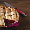 Pink/Grey - Pie Server W/Serrated Edge Stainless steel business end with serrated edge for cutting and serving. Ergonomic non-slip handle offering two comfortable grip positions. Dishwasher safe. This package contains one 10-1/2in pie server with serrated edge. Imported.