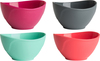 Pink/Grey/Mint/Coral - Pinch Bowl Set 4/Pcs Pinch bowls are flexible bowls for easy pouring. Non-stick, easy-to-clean silicone bowls hold up to 1/2 cup/125 milliliters. Simply fill, pinch sides to form a spout and pour. Dishwasher safe. Package contains four pinch cups in assorted colors. Warning: This product is not a toy, keep away from children. Imported.