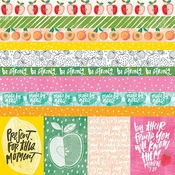 """Borders & 3""""X4"""" Paper - Illustrated Faith Fruit Of The Spirit Cardstock 12""""X12"""""""