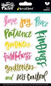 Fruit Of The Spirit Clear Stickers - Illustrated Faith