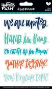Scripts - Illustrated Faith All People All Nations Clear Stickers