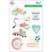 "Let Your Heart Decide Layered Chipboard Stickers 5""X7"" W/Foil  - Pinkfresh"