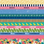 """Borders - Island Escape Double-Sided Cardstock 12""""X12"""""""