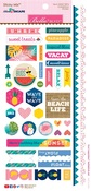 "Sticky Mix - Island Escape Cardstock Stickers 6""X12.5"""