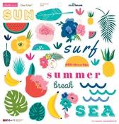 Island Escape Chipboard Stickers - Bella Blvd