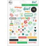 """Let Your Heart Decide Puffy Stickers 6""""X8""""  - Pinkfresh"""