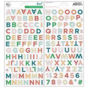"Let Your Heart Decide Alpha Chipboard Stickers 5.5""X11"" 2/Pkg  - Pinkfresh"