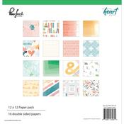 "Let Your Heart Decide - Pinkfresh Studio Paper Collection Pack 12""X12"" 32/Pkg  - Pinkfresh - PRE ORD"