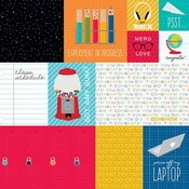 """Daily Details - Pop Quiz Double-Sided Cardstock 12""""X12"""""""