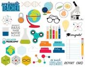 Ephemera Shapes, Tabs & Words - Pop Quiz Cardstock Die-Cuts