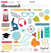 "Icons - Pop Quiz Chipboard Stickers 12""X12"""