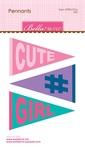 """Girl Pennants - Bella Blvd Legacy Die-Cuts 3.37""""X5"""""""