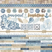 Beach Shack Cardstock Stickers - KaiserCraft