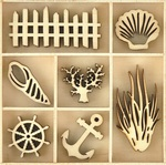 Beach Wood Flourishes - KaiserCraft