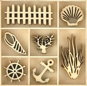 Beach Wood Flourishes - KaiserCraft